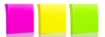 Set of three sticker post-it notes Stock Image