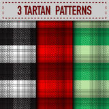 Set of three Tartan Plaid samples in vector Stock Photos