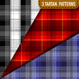 Set of three Tartan Plaid samples in vector Royalty Free Stock Photos
