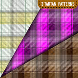 Set of three Tartan Plaid samples in vector Royalty Free Stock Images