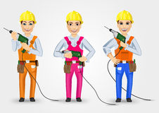 Set of three technical, electrician or mechanic Stock Photography