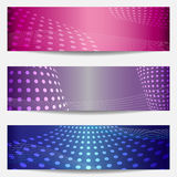 Set of three templates for disco party invitations Stock Image