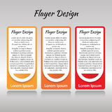 A set of three templates for printed products Royalty Free Stock Photo