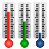 Set of three thermometers Royalty Free Stock Photo