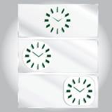 Set three types of clocks Royalty Free Stock Photography