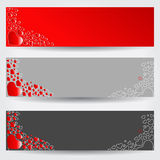 Set of three Valentines Day banners Royalty Free Stock Images