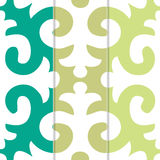 Seamless Shyrdak Fleur de Lis Background Pattern Royalty Free Stock Image