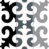 Seamless Shyrdak Fleur de Lis Background Pattern Stock Photo