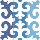 Seamless Shyrdak Fleur de Lis Background Pattern Stock Photography