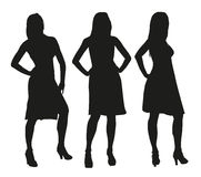 Set of three vector women characters Stock Photo