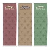 Set Of Three Vintage Oriental Style Vertical Banners. Stock Images