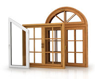Set of three windows Royalty Free Stock Images