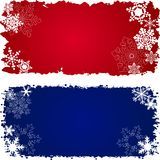 Set of three winter banners Royalty Free Stock Photo