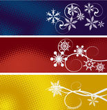 Set of three winter banners Stock Photos