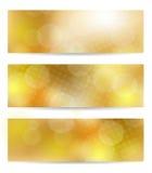 Yellow banner set Royalty Free Stock Image