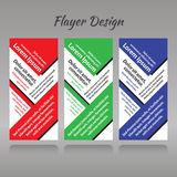 A set of threel patterns for printed products, red, green, blue Stock Photos