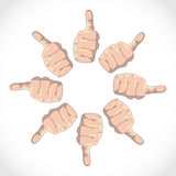 Set of thumbs Stock Photography