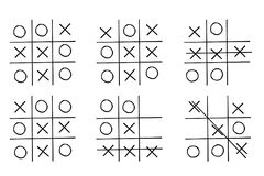 Set- tic tac toe game,isolated on white background Stock Photography