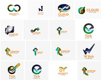 Set of tick ok, cloud or arrow concept icons Stock Photography