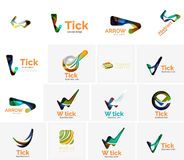 Set of tick ok, cloud or arrow concept icons Royalty Free Stock Image