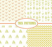 Set of tick seamless ethnic pattern. It can be used for wallpaper, pattern fills, web page background, surface textures Stock Images