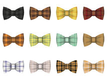 Set of tie bows Stock Photography