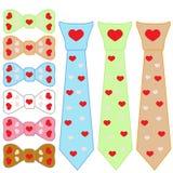Set tie cravat and Valentine's Day Royalty Free Stock Photo