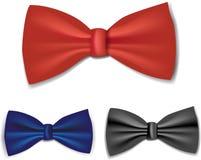 set tie för bow Arkivfoto