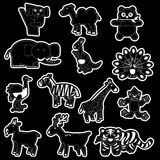 Set Tiere Stockbild