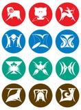 Set Tierkreis-Zeichen Stockbild
