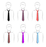 Set ties Royalty Free Stock Photos