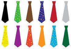 Set of ties, vector illustration. Royalty Free Stock Photo