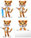 Set of tiger cartoon. Illustration of Set of tiger cartoon Stock Images