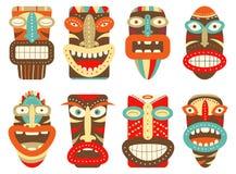 Set of tiki tribal mask Royalty Free Stock Image