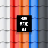 Set of Tiled roof seamless patterns Stock Images