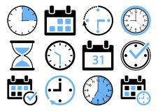 Set of time management icons. Vector illustration vector illustration