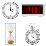 Set of time measurement instruments icons Royalty Free Stock Photo