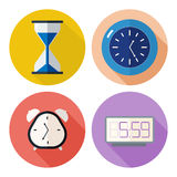 Set of time related icons. Clocks for your design Royalty Free Stock Photo