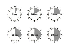 Set of Time Second Stopwatch Design Flat Royalty Free Stock Images