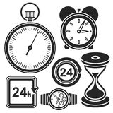 Set of time web and mobile icons. Vector. Royalty Free Stock Photos