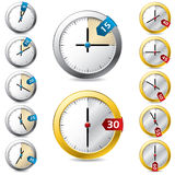 Set of  timer design Stock Photo