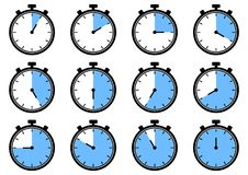 Set of timer icons. Vector illustration stock illustration