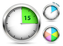 Set of timers Royalty Free Stock Image