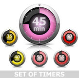 Set of timers Stock Photo