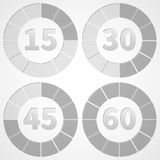 Set timers black and white Stock Photography