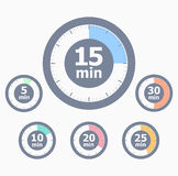 Set of timers Stock Image