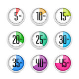 Set of timers Royalty Free Stock Photos