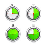 Set of timers. Vector Stock Photos
