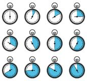 Set of timers web and mobile icons. Vector. Royalty Free Stock Image