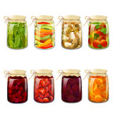 Set with tinned foods Royalty Free Stock Photo